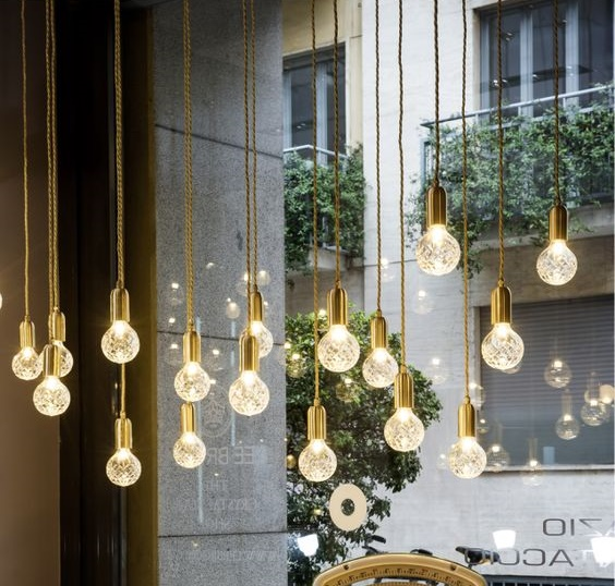 Ampoule, L, Cristal, , Ø12,5cm, LED, Filament, E27   Zangra   Nedgis