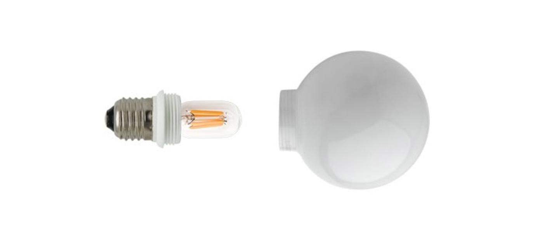Ampoule led ampoule opale led o8cm h12cm zangra normal