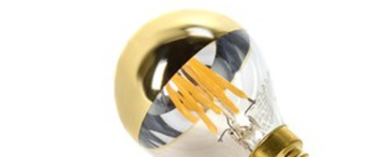Ampoule led deco led lamp miroir transparent or o4 5cm cm serax normal