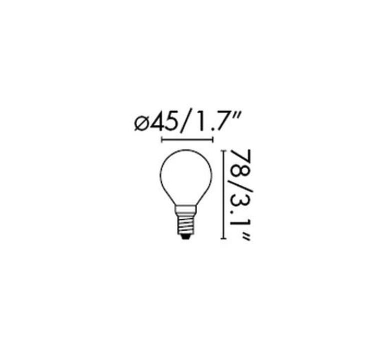 Led g45 thomas edison ampoule led eco bulb  faro 17413  design signed 33817 product