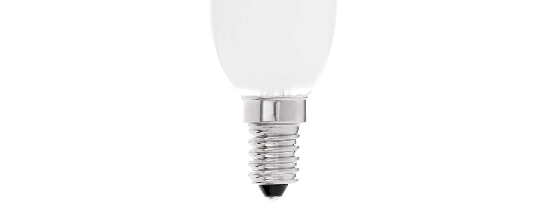 Ampoule led e14 candle verre mat 2700k 450lm 4w h10cm o3 5cm faro normal