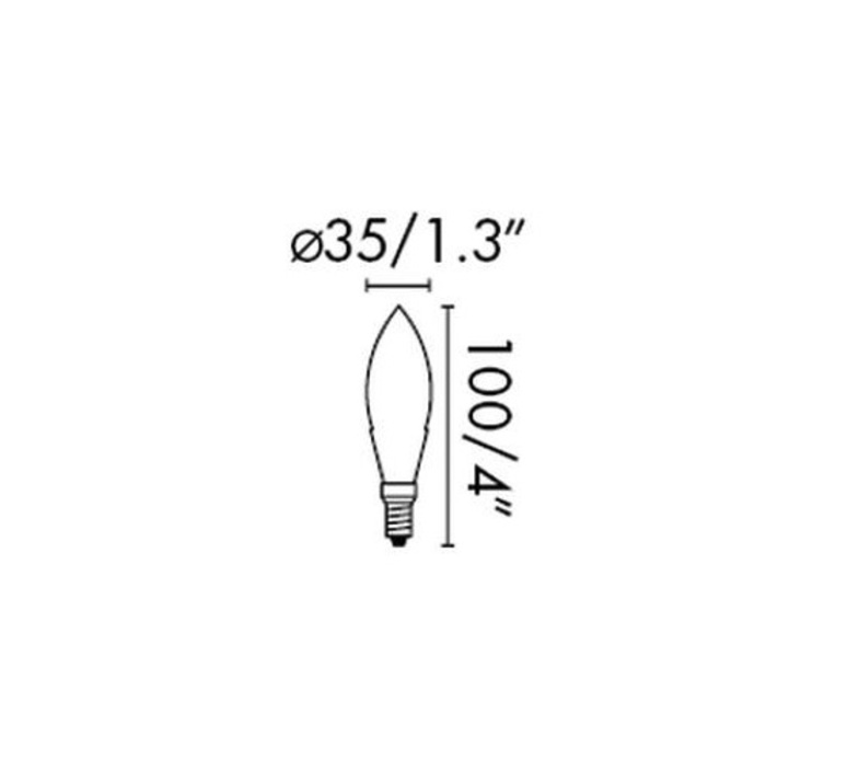 C35 candle thomas edison ampoule led eco bulb  faro 17460  design signed 33819 product