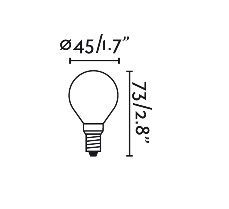 Ampoule led e14 g45 matt glass faro 25743 product