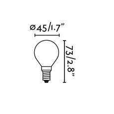 Ampoule led e14 g45 matt glass faro 25743 thumb