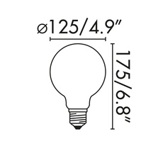 Ampoule led e27 matt glass 6w 2700k 26854 thumb