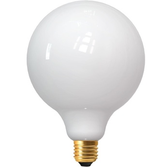 Ampoule led e27 milky globes g125 blanc 2700 k 1250 lm 360 led o12 5cm h17cm girard sudron normal