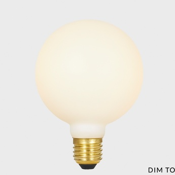 Ampoule led e27 sphere iii 7w dim to warm porcelaine o10cm h13 7cm tala normal