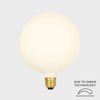 Ampoule led e27 sphere iv 8w dim to warm porcelaine o15cm h17 5cm tala normal