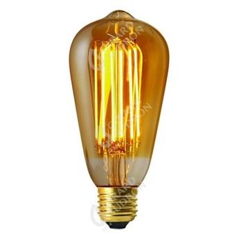 Ampoule led edison ambre o6 4cm h14 2cm girard sudron normal