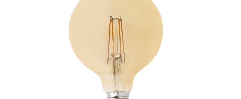 Ampoule led filament amber ambre o12 5cm h17 5cm faro normal