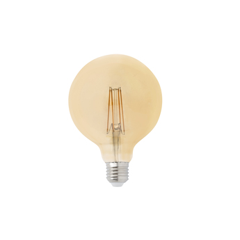 Ampoule led filament amber ambre o12 5cm h17 5cm faro normal