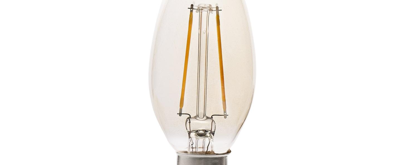 Ampoule led filament amber ambre o3 6cm h10cm faro normal