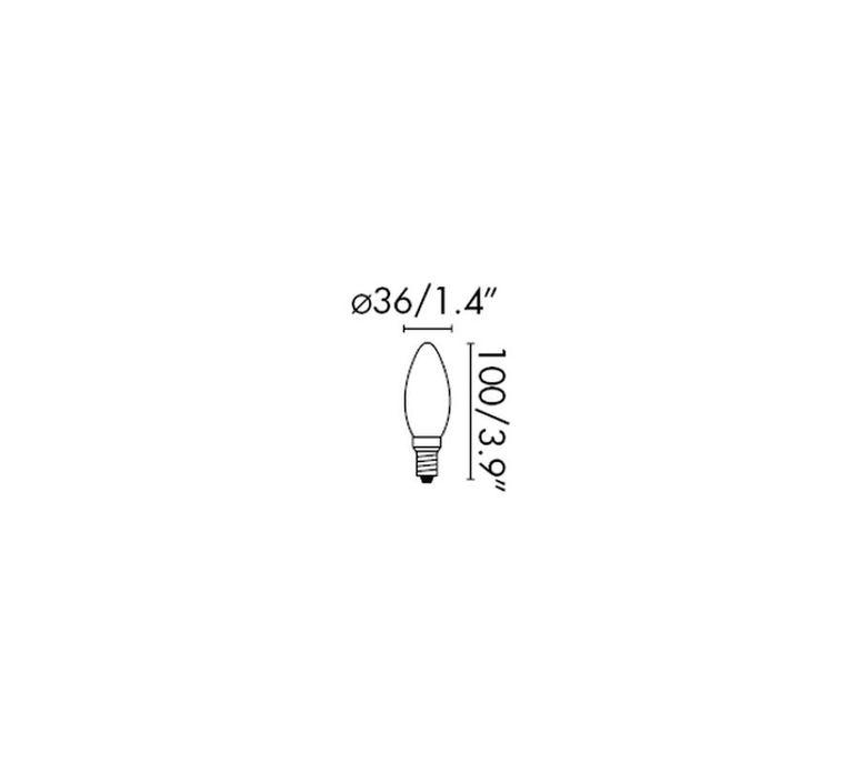 Filament amber thomas edison ampoule led led bulb  faro 17427  design signed 36730 product