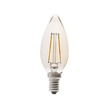 Ampoule led filament amber ambre o3 6cm h10cm faro normal