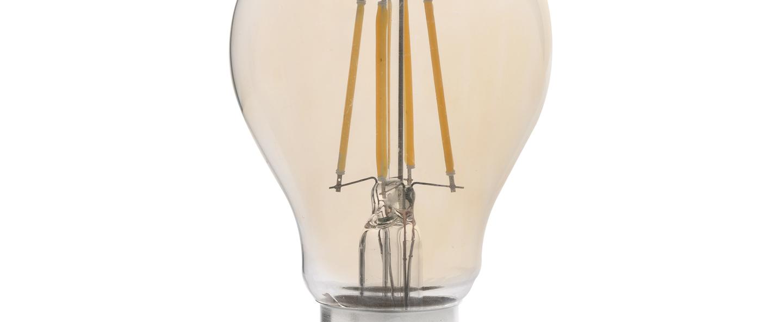 Ampoule led filament amber ambre o5 6cm h10 2cm faro normal