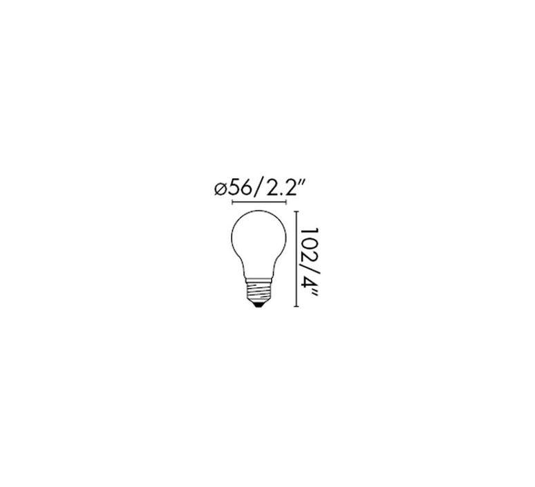 Filament amber thomas edison ampoule led led bulb  faro 17426  design signed 36733 product