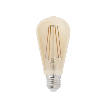 Ampoule led filament amber ambre o6 4cm h14 6cm faro normal
