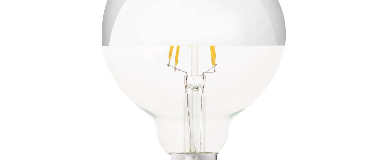 Ampoule led filament amber ambre o9 5 cm h12 8cm faro normal