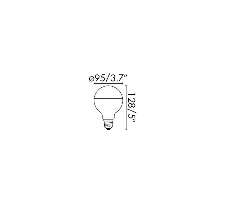 Filament amber thomas edison ampoule led led bulb  faro 17271  design signed 36752 product