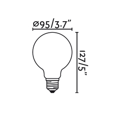 Filament amber thomas edison ampoule led led bulb  faro 17429  design signed 36728 thumb