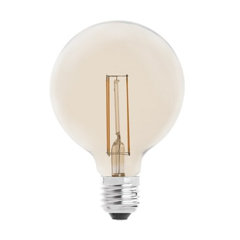 Ampoule led filament amber ambre o9 5cm h13 8cm faro normal
