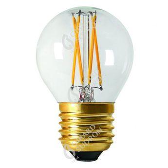Ampoule led filament transparent h7 5cm o4 5cm 5w e27 2700k 610lm girard sudron normal