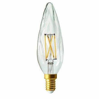 Ampoule led flamme gs8 filament led laiton o4cm h12 9cm girard sudron normal