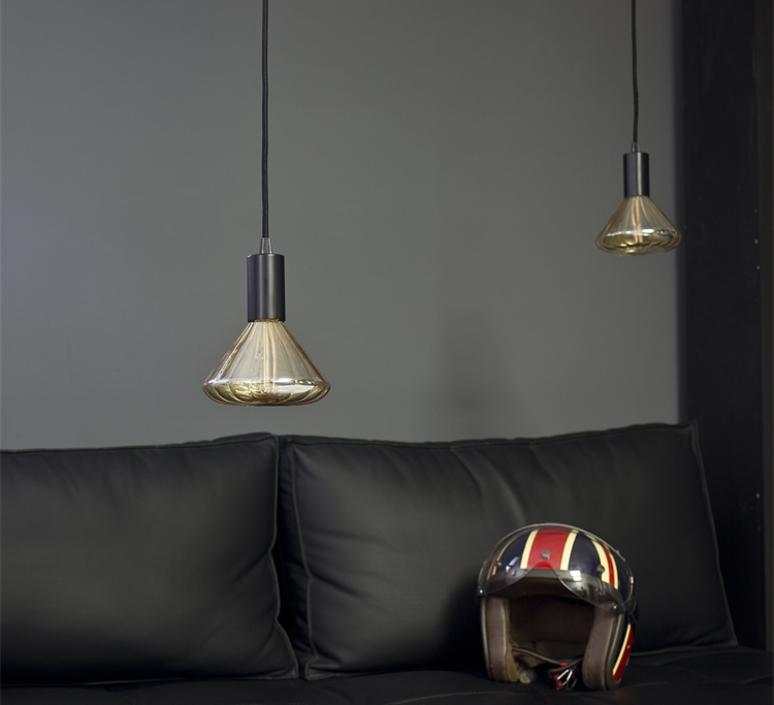 Globe dim 145 mm ambre  ampoule led eco bulb  nexel 043900 1145a  design signed 58541 product