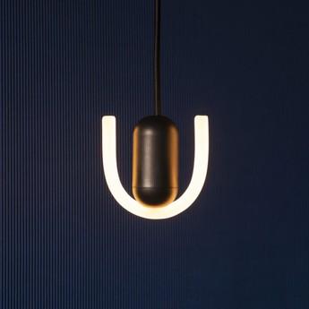 Ampoule led smile 1 verre opal blanc noir l10cm h9 5cm beem normal