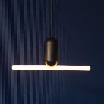 Ampoule led smile 3 verre opal blanc noir l22cm h6cm beem normal