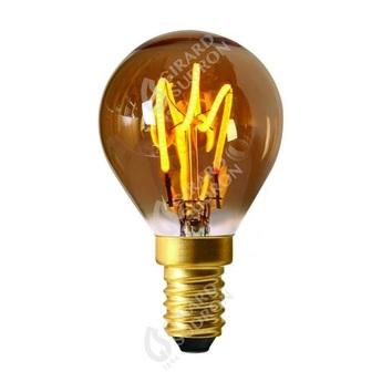 Ampoule led spherique 3 loops g45 ambre o4 5cm h7 8cm girard sudron normal