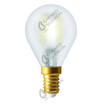Ampoule led spherique g45 filament led e14 matt finish blanc opale o4 5cm h7 8cm girard sudron normal