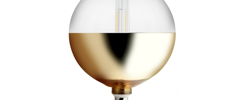 Ampoule xxl mirror bottom or o20cm led zangra normal
