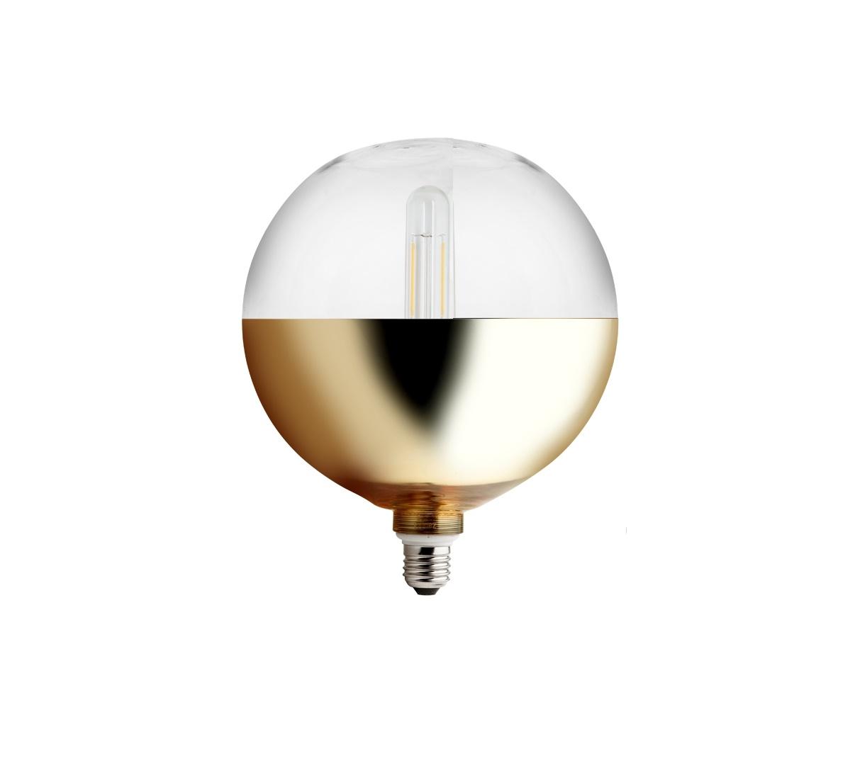 ampoule xxl miroir bas or 20cm e27 led zangra luminaires nedgis. Black Bedroom Furniture Sets. Home Design Ideas
