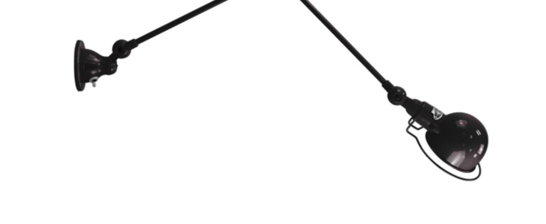 Applique 2 bras noir mat signal l60cm jielde normal