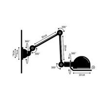 Applique 2 bras noir mat signal l60cm jielde 75459 thumb