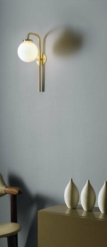 Applique big bulb opal laiton h36cm p20cm cto lighting normal