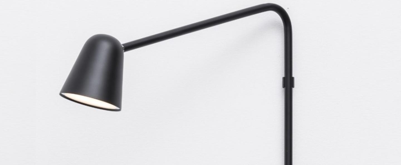 Applique chaplin wall noir mat led 2700k 580lm h50cm l42cm formagenda normal