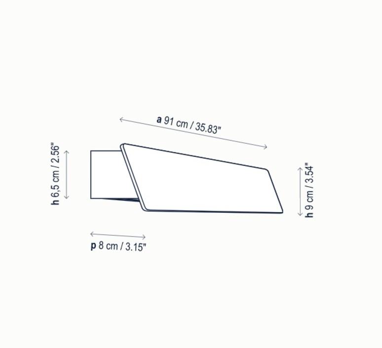 Alba 90 outdoor ruben saldana applique d exterieur outdoor wall light  bover 2270200614  design signed nedgis 109638 product
