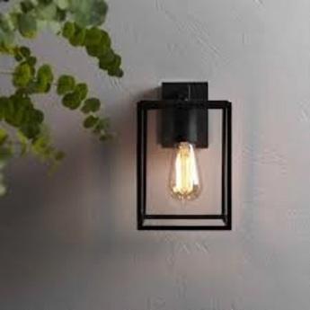 Applique d exterieur box lantern noir ip23 l16cm h27cm astro normal