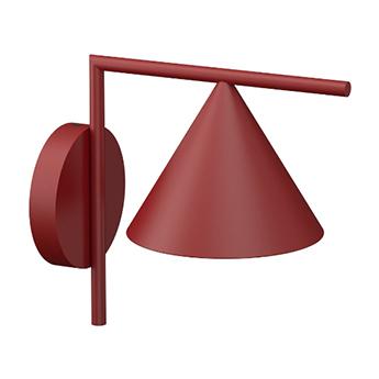 Applique d exterieur captain flint rouge burgundy ip65 led 3000k 658lm l20 8cm h29 6cm flos normal