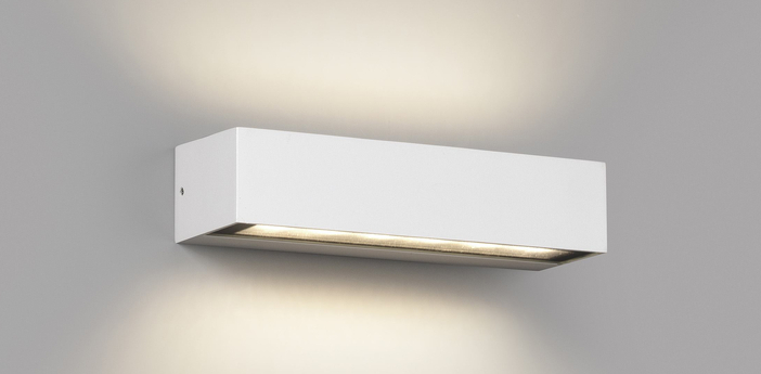 Applique d exterieur doro 13 blanc ip65 led 3000k 1000lm l22 2cm h7cm faro normal