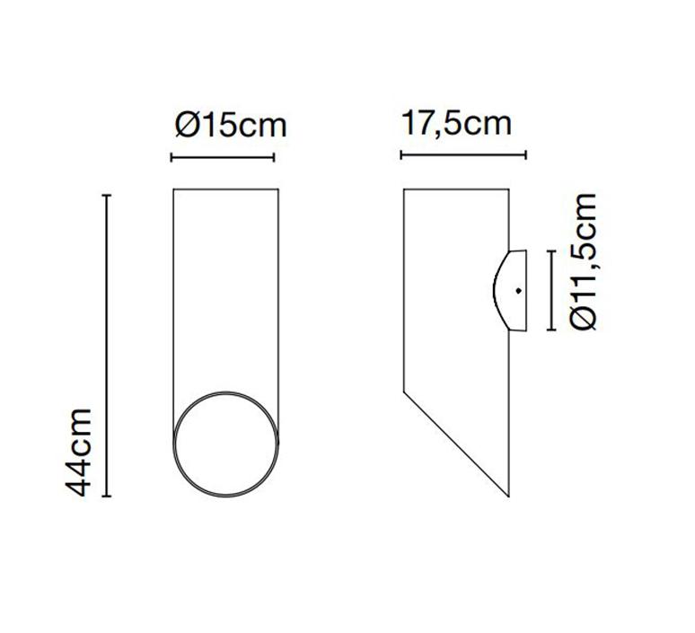 Elipse a josep lluis xucla applique d exterieur outdoor wall light  marset a707 003 38  design signed nedgis 115804 product
