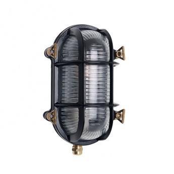 Applique d exterieur hublot marine noir ip64 l16cm h23cm zangra normal