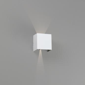 Applique d exterieur olan blanc ip65 led 3000k 190lm l14 5cm h14cm faro normal