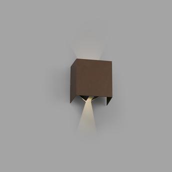 Applique d exterieur olan marron ip65 led 3000k 190lm l14 5cm h14cm faro normal