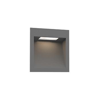 Applique d exterieur oris outdoor 1 3 gris ip65 led 3000k 180 300lm l13cm h13cm wever ducre normal