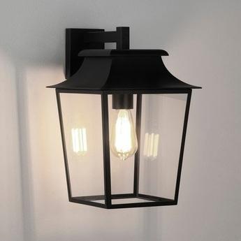 Applique d exterieur richmond lantern 254 noir ip23 l25cm h39cm astro normal