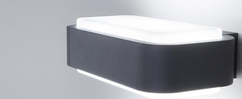 Applique d exterieur sticker blanc h8 5cm l28cm faro normal
