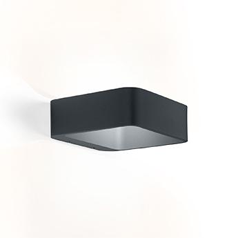 Applique d exterieur tape 1 0 gris anthracite ip65 led 3000k 420lm l18cm h6cm wever ducre normal